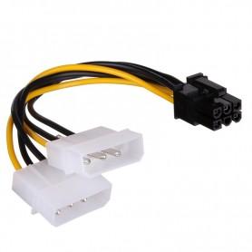 CABLE ALIMENTACION CABLEXPERT 2X  MOLEX A PCI-E 6PINS CC-PSU-6 15 CM