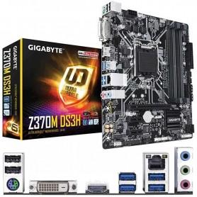 PLACA BASE GIGABYTE Z370-DS3H S-1151 4DDR4 64GB DVI+HDMI GBLAN 6USB3.1 6SATA3 M.2