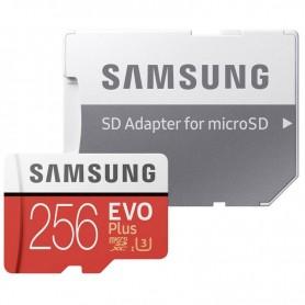 MICROSD 256GB XC UHS-I SAMSUNG EVO PLUS CLASE 10 HASTA 100 M/S + LPI*