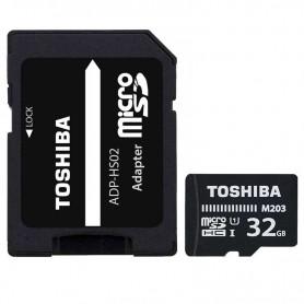 MICROSD 32GB TOSHIBA M203 UHS-1 CLASE 10 CON ADAPTADOR + LPI*