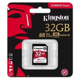 SD 32GB KINGSTON CANVAS SDR/32GB HASTA 100MBPS + LPI*