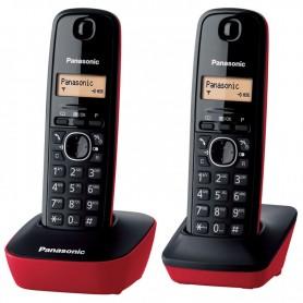 TELEFONO PANASONIC KX-TG1612SPR KIT 2 UDS NEGRO/ROJO