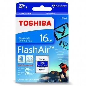 SD 16GB TOSHIBA FLASHAIR THN-NW04W0160E6 WIFI SDHC UHS-I CLASE 10