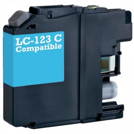 CARTUCHO COMPATIBLE BROTHER LC121 / LC123 CYAN (10 ML)