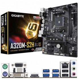 PLACA BASE GIGABYTE GA-A320M-S2H S-AM4 2DDR4 32GB VGA+DVI+HDMI GBLAN 4SATA3 1M.2 6USB3.1 6USB2.0 MATX