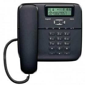 TELEFONO ANALOGICO GIGASET DA610 CON DISPLAY  MANOS LIBRES MARCACION FUNCION SOS COLOR NEGRO