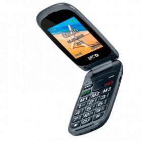 TELEFONO MOVIL SENIOR SPC HARMONY NEGRO TECLAS GRANDES DOBLE PANTALLA DUAL SIM TECLA SOS BATERIA 800MAH + LPI*