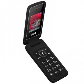 TELEFONO MOVIL SENIOR SPC FLIP NEGRO TECLAS GRANDES DUAL SIM CAMARA LINTERNA  BATERIA 800MAH + LPI*