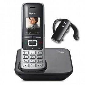 TELEFONO DECT GIGASET S850 NEGRO + AURICULAR BLUETOOTH SENNHEISER DE REGALO