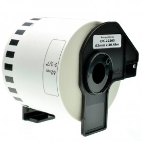 ETIQUETA CONTINUA INK-PRO® COMPATIBLE CON BROTHER DK-22205 62MM X 30.48M