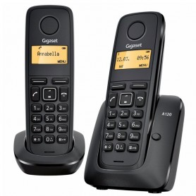 TELEFONO GIGASET A120 DUO COLOR NEGRO