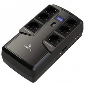 COOLBOX SAI 800 VA SCUDO II 800VA / 480W 6  SCHUKO 2 USB CARGA LCD TACTIL
