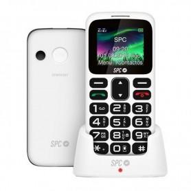 TELEFONO MOVIL SENIOR SPC SYMHONY 2 BLANCO TECLAS GRANDES 5 NUM SOS RADIO BATERIA 800MAH + LPI*