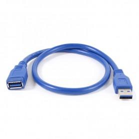 CABLE EXTENSION USB 3.0  M-H NANOCABLE 10.01.0901-BL 1M