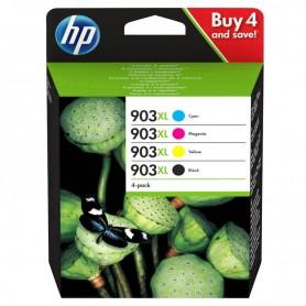 CARTUCHO HP 903 XL (3HZ51AE) PACK 4 COLORES NEGRO + CYAN + MAGENTA + AMARILLO