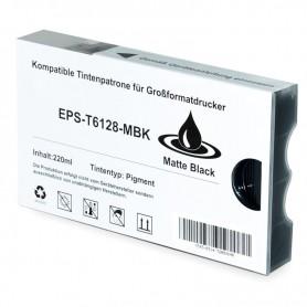 CARTUCHO TINTA COMPATIBLE PIGMENTADA EPSON T612800 / T567800 NEGRO MATE (220 ML)
