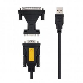 NANOCABLE CABLE ADAPTADOR USB A RS232 (SERIE) 10.03.0002