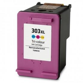 CARTUCHO TINTA REMANUFACTURADO HP 303XL (T6N03AE/T6N01AE) COLOR (18 ML)