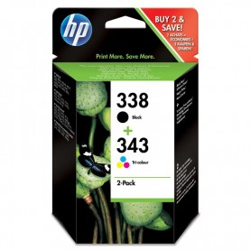 CARTUCHO HP PACK 338 + 343 SD449EE NEGRO+ COLOR (480PAG + 330PAG)