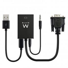 EWENT ADAPTADOR VGA A HDMI CON AUDIO EW9866