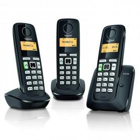 TELEFONO GIGASET A220 TRIO COLOR NEGRO