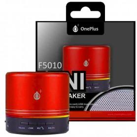 ONE+ ALTAVOZ BLUETOOTH MINI F5010 MERA MICROSD / USB / FM CON BATERIA RECARGABLE 3W ROJO