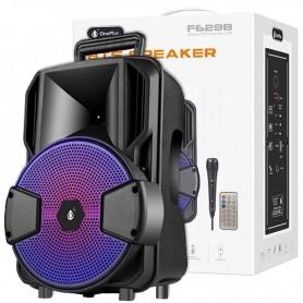 ALTAVOZ BLUETOOTH ONE+ LOKI F6298 12W  FM / USB / MIC / MANDO / BATERIA RECARGABLE 2400MAH COLOR NEGRO