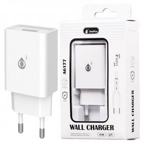 ONE+ CARGADOR A6177 WILSON  1 PTOS USB 2.4A CON CABLE USB TYPE C BLANCO