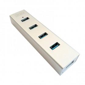 HUB USB 3GO 4 PTOS USB 3.0 ALIMENTADO CARCASA ALUMINIO