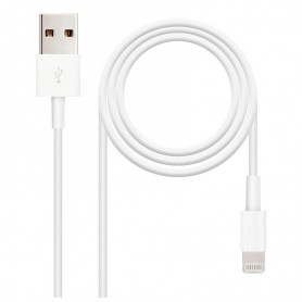 NANOCABLE CABLE USB LIGHTNING PARA IPHONE 5 /IPAD 6 10.10.0402 2M COLOR BLANCO