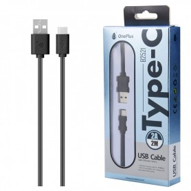 ONE+ CABLE USB A USB TYPE C B2521 2A 2M COLOR NEGRO