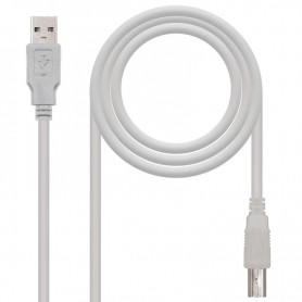 NANOCABLE CABLE USB 2.0 PARA IMPRESORA A/M-B/M 1,8M 10.01.0103