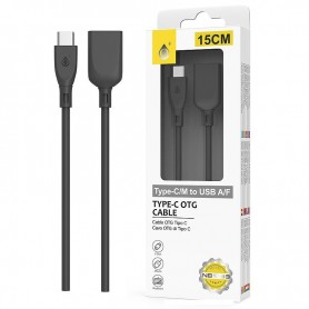 ONE+ CABLE OTG USB TYPE C A USB HEMBRA NB1233 15CM