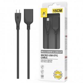 ONE+ CABLE OTG MICRO USB A USB HEMBRA NB1232 15CM