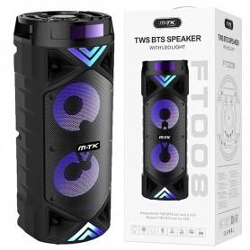 MTK ALTAVOZ BLUETOOTH GLOOM FT008 TWS BT 5.0  FM / MICROSD / USB 2*15W 21X57CM NEGRO