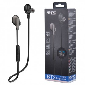 MTK AURICULARES BLUETOOTH DEPORTIVOS CT966 CHIMI MAGNETICOS NEGRO