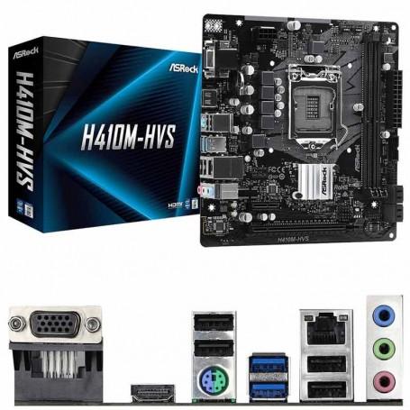 PLACA BASE ASROCK H410M-HVS S-1200 2DDR4 64GB VGA+HDMI GBLAN 4USB3.2 4SATA3 MATX