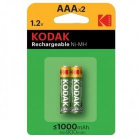 PILAS RECARGABLES KODAK AA 1000 MAH READY TO USE PACK 2 UDS.