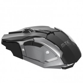 RATON GAMING INALAMBRICO MTK GT722 ONIX 6D 6 BOTONES LED 800/1200/1600 DPI COLOR BLACK