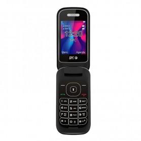 TELEFONO MOVIL SENIOR SPC VELVET NEGRO TECLAS GRANDES DUAL SIM CAMARA LINTERNA  BATERIA 800MAH + LPI*