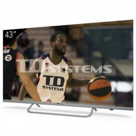TV LED 43'' TDSYSTEMS K43DLX11US UHD 4K WIFI USB HDMI ANDROIDTV COLOR PLATA