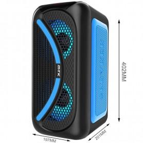 MTK ALTAVOZ BLUETOOTH TF4161 TWS 25W RGB / TF (32GB) / USB / LINE-IN / FM / MANDO / BATERIA 3000MAH AZUL