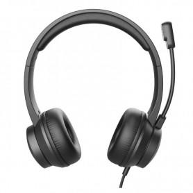AURICULARES + MIC TRUST HS-200 ON EAR CONEXION USB