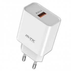 MTK CARGADOR TA0255 CARGA RAPIDA 1 PTOS USB 18W (SIN CABLE) BLANCO