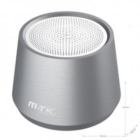 MTK MINIALTAVOZ METAL BLUETOOTH 5.0 FT058 TWS 4W MEGABASS LUZ AZUL 300MAH GRIS
