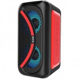 MTK ALTAVOZ BLUETOOTH TF4161 TWS 25W RGB / TF (32GB) / USB / LINE-IN / FM / MANDO / BATERIA 3000MAH ROJO
