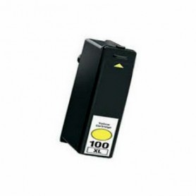 CARTUCHO TINTA COMPATIBLE LEXMARK 100XL (14N1071E / 14N1095E / 14N0902E / 14N0922E) AMARILLO (12.5ML)