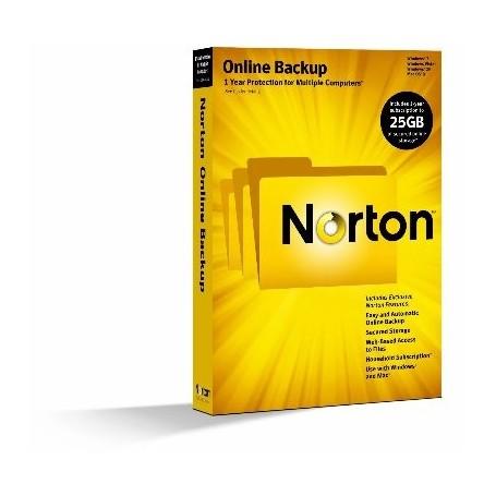 NORTON ONLINE BACKUP 2.0 25GB 1 USER