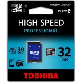 MICROSD 32GB TOSHIBA UHS-1 CLASE 10 CON ADAPTADOR + LPI*