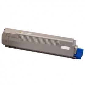 TONER COMPATIBLE OKI C801 / C821DN AMARILLO (7300 PAG)